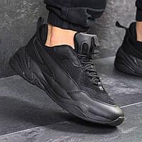 Мужские кроссовки демисезонные Puma 7739 черные, фото 1