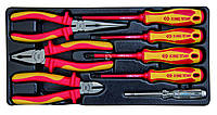 Набор инструментов   8ед, в ложементе  (Пасатижи, отвертки, кусачки, утконосы)