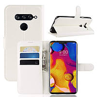 Чехол-книжка Litchie Wallet для LG V40 ThinQ Белый