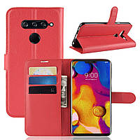 Чехол-книжка Litchie Wallet для LG V40 ThinQ Красный