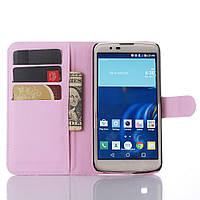 Чехол-книжка Litchie Wallet для LG K10 K410 / K430DS Светло-розовый