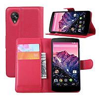 Чехол-книжка Litchie Wallet для LG Nexus 5 Красный