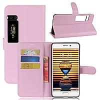 Чехол-книжка Litchie Wallet для Meizu Pro 7 Светло-розовый