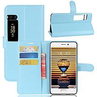 Чехол-книжка Litchie Wallet для Meizu Pro 7 Голубой