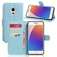 Чехол-книжка Litchie Wallet для Meizu Pro 6 Голубой
