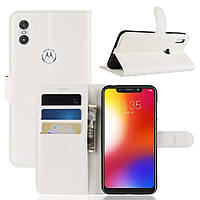 Чехол-книжка Litchie Wallet для Motorola Moto One Power Белый