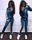 Женский спортивный костюм с худи с лампасами 74so641, фото 3