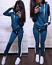 Женский спортивный костюм с худи с лампасами 74so641, фото 6