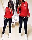 Женский спортивный костюм с худи с лампасами 74so641, фото 7