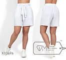 Льняные женские шорты в больших размерах на средней посадке 1ba1665, фото 3