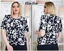 Принтованная летняя блуза в больших размерах 6ba1684, фото 3