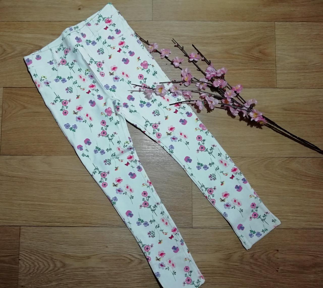 Стильные трикотажные скинни в цветочек (Размер 6-7Т) H&M (Англия)
