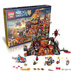 """Конструктор Lepin Nexo Knights 14019 """"Вулканическое логово Джестро"""" 1244 деталей. (Аналог Лего 70323)"""