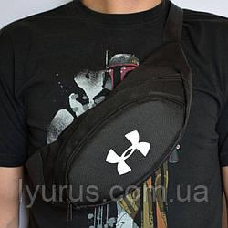 Поясна сумка, Бананка, барсетка андер армор, Under Armour. Чорна