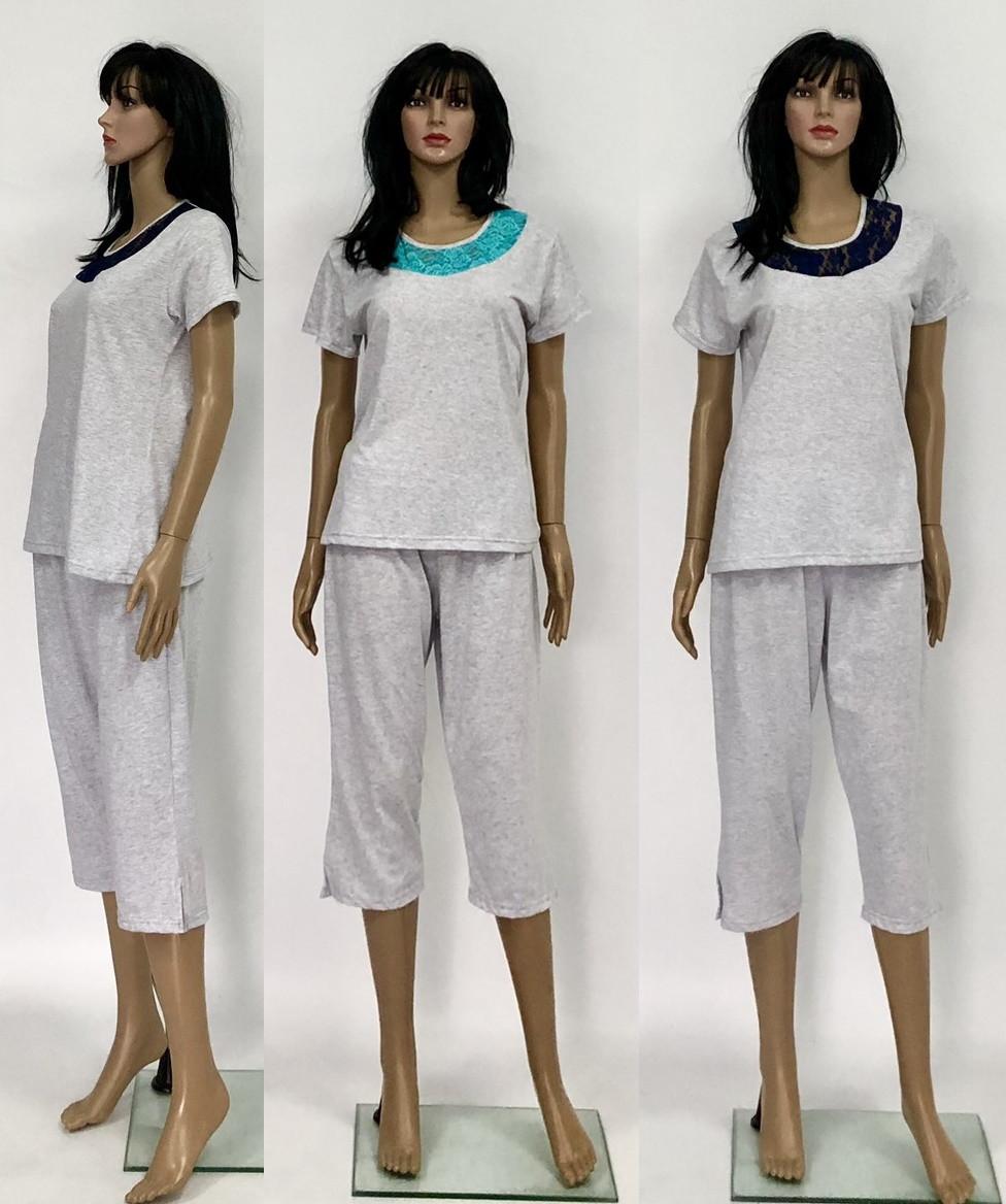 Пижама женская с гипюром