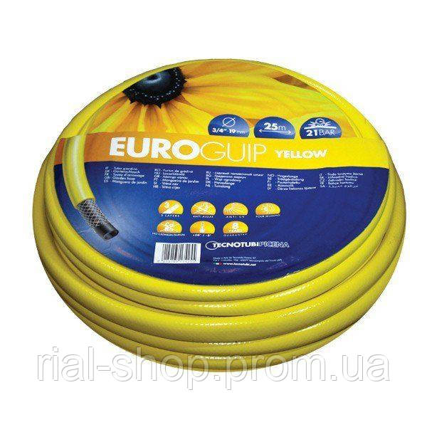 Шланг для полива Tecnotubi Euro Guip Yellow садовый диаметр 5/8 дюйма, длина 50 м (EGY 5/8 50)
