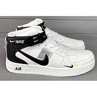 588fed4d Мужские высокие кроссовки Nike Air Force 1 High белые с черным р.40 Акция -