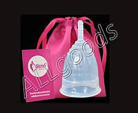 Чаша менструальная + мешочек для хранения. Размер L