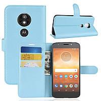 Чехол-книжка Litchie Wallet для Motorola Moto E5 Play XT1921 Голубой