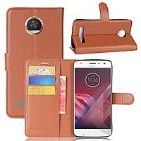 Чехол-книжка Litchie Wallet для Motorola Moto Z2 Play XT1710 Коричневый