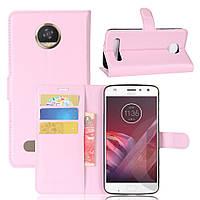 Чехол-книжка Litchie Wallet для Motorola Moto Z2 Play XT1710 Светло-розовый