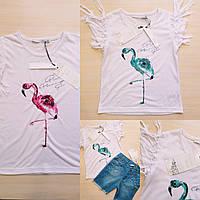 Футболка с фламинго для девочек от 1 до 10 лет Производство Турция