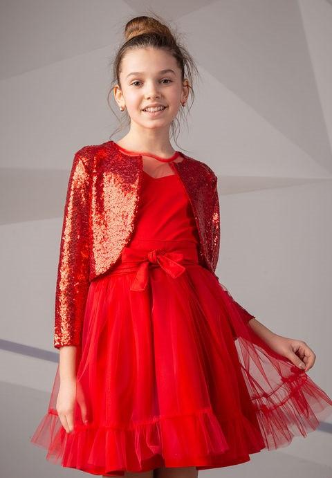 Детское нарядное платье  для девочки Арина, размеры 134-152