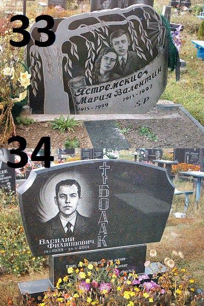 Подвійний пам'ятник тумба та квітник із граніту на могилу