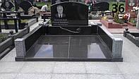 Подвійний пам'ятник комплеск із граніту на кладовище