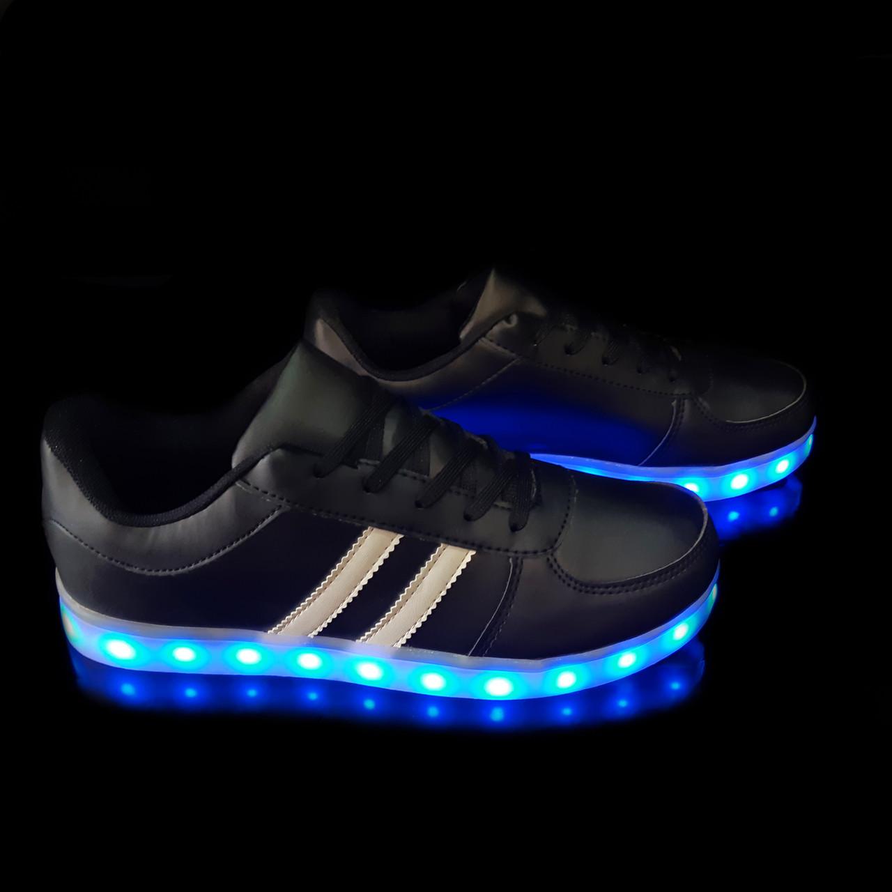 Кроссовки светящиеся мужские Black FX17