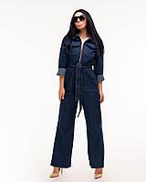Женский стильный комбинезон из джинса Saint Streetтемно-синий, фото 1