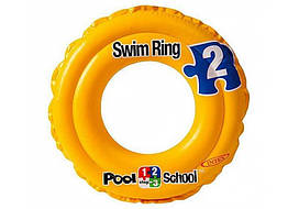 Intex Круг 58231 (24) Swit Ring, желтый 51см, от 3-х до 6-ти лет