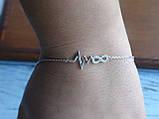 Браслет серебряный Love, фото 2