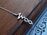 Браслет серебряный Love, фото 6