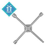 """Ключ баллонный крестовой усиленный  17x19x22мм и 1/2"""" Intertool HT-1602"""