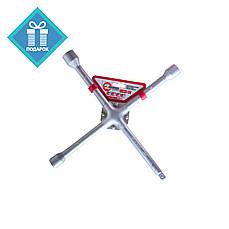 """Ключ баллонный крестовой усиленный 17х19х21мм и 1/2"""" Intertool HT-1604"""