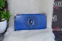 """Кошелек в стиле """"Alexander McQueen"""" синий, фото 1"""