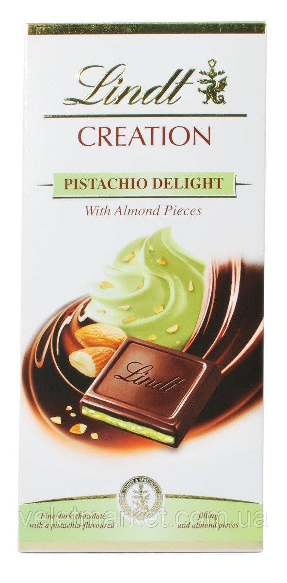Шоколад Lindt Creation черный с фисташковым кремом 150 г
