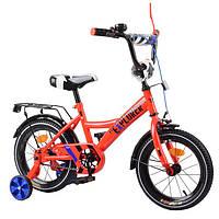 """Велосипед 2-х колісний EXPLORER 14"""" T-21417 (1шт) red з дзвінком, дзеркалом, та ручним гальмом в кор."""