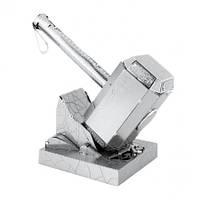 Металлическая сборная 3D модель Marvel - Mjolnir (Молот Тора), Metal Earth (MMS320)