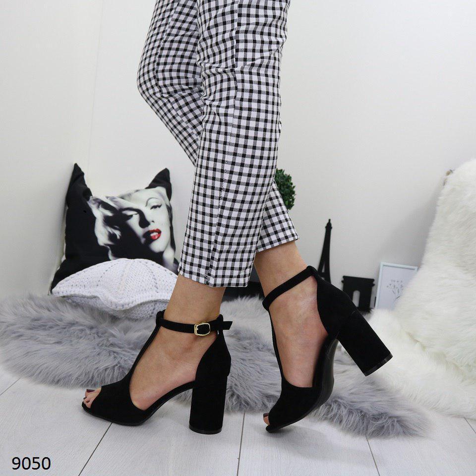 9b17b5928 Стильные босоножки черные женские на каблуке и платформе р. 36, 37, 38,