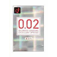 Супер тонкие презервативы Okamoto Zero One 0.02 мм, 3 шт