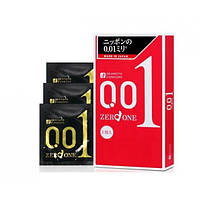Презервативы ультратонкие Okamoto Zero One 0.01, 3 шт