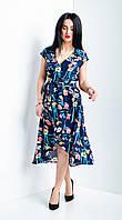 Женское платье на запах с цветочным принтом, фото 1
