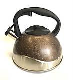 Чайник со свистком-Нерж-3л BENSON BN-716 (12 шт), фото 3