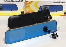 Відеореєстратор DVR DV 460 дзеркало з двома камерами ART-2001(GOLD)