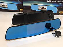 Відеореєстратор DVR A1 дзеркало з двома камерами