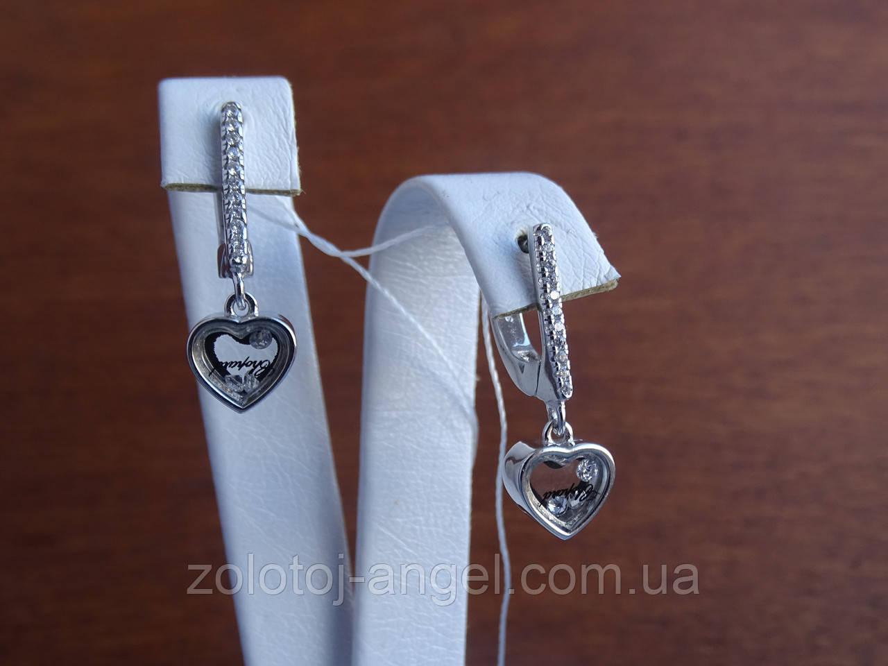 Серебряные дизайнерские серьги в стиле Сartie(Картье)