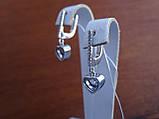 Серебряные дизайнерские серьги в стиле Сartie(Картье), фото 2