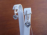 Серебряные дизайнерские серьги в стиле Сartie(Картье), фото 3
